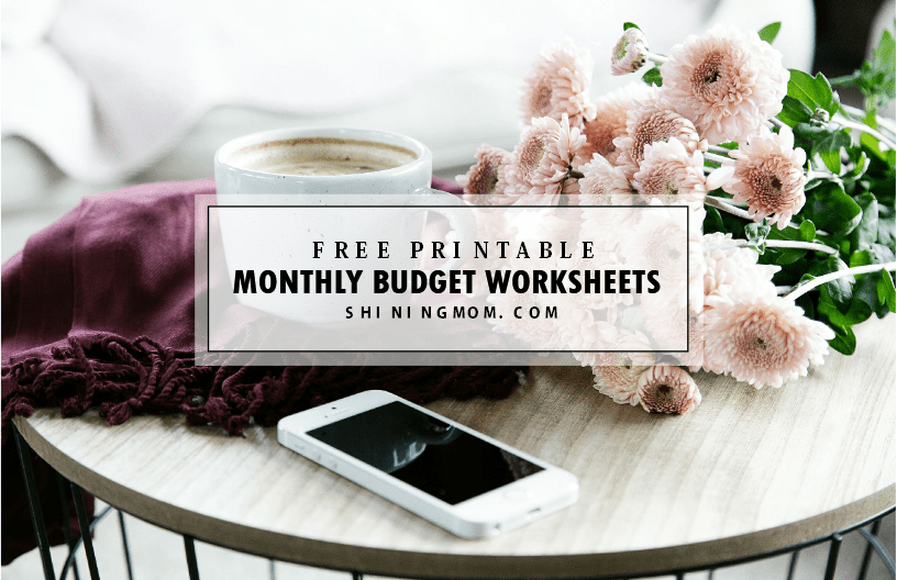free printable monthly budget
