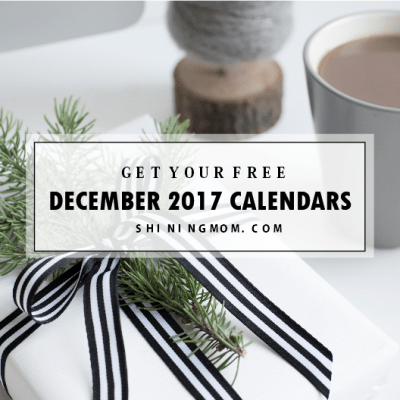 FREE December 2017 Calendar: Christmas Themed Designs!