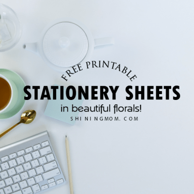 Free Printable Stationery in Beautiful Florals!