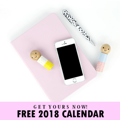 Fun 2018 Calendar Printable for Kids with Student Planner!