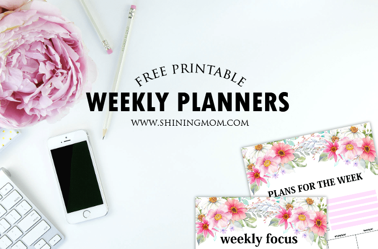 Free Weekly Planner Templates: 15 Beautiful Designs!