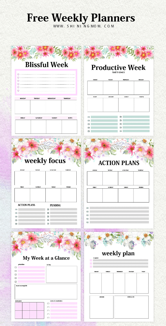 This is a picture of Adaptable Planner Pages Printable