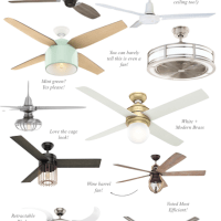 Stylish Ceiling Fans (Under $350!)