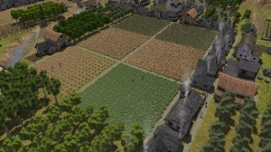 Screenshot of Farm land in the game Banished