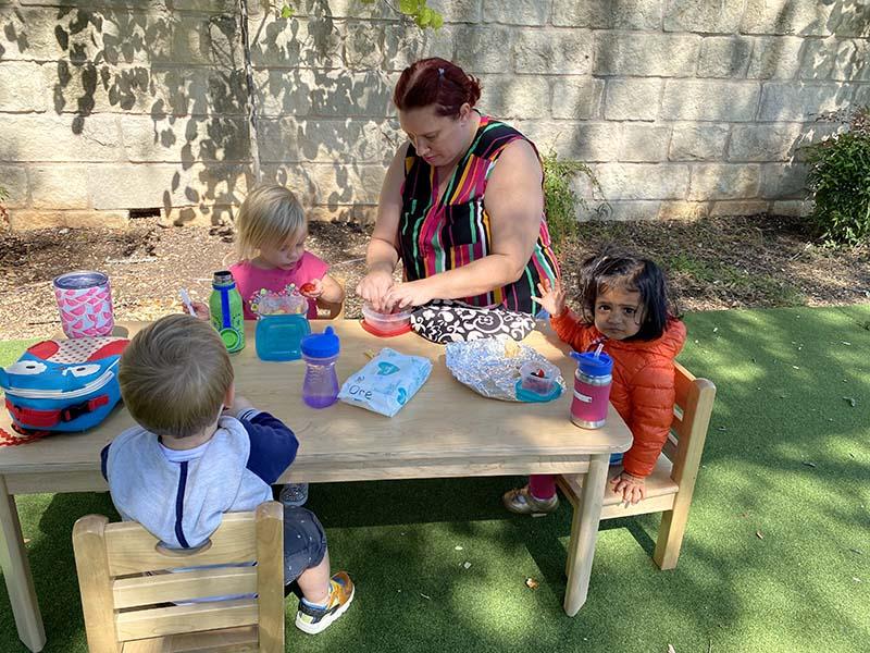 Picnic Lunch at Shining Stars Montessori School