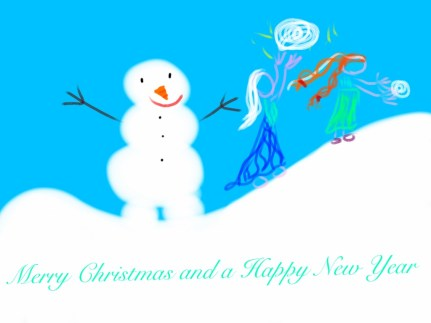 Christmas and New Year Card-Frozen