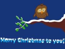 Christmas Card-Brownies Brown Owl