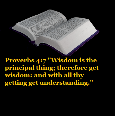 "Proverbs 4:7 ""Wisdom is the principal thing; therefore get wisdom: and with all thy getting get understanding."""