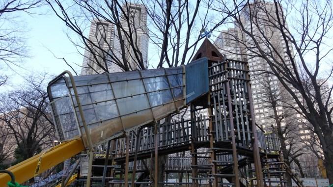 新宿中央公園 複合遊具