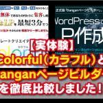 【実体験】Colorful(カラフル)とDanganページビルダーを徹底比較しました!
