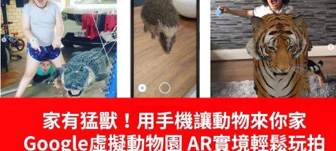家裡有猛獸!用手機讓動物來你家  3D Google虛擬動物園 AR實境在家都能輕鬆玩拍