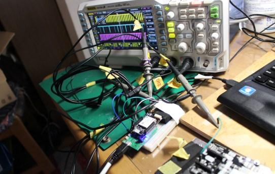 【L-RTK】F9Pの入出力信号をオシロで観察した<RTCM3が不規則に入ってくる>