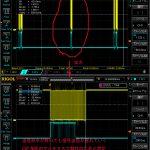【RTK2021】F9PへRTCM入力するシリアル波形をオシロで観察してみた<RTCMシリアル通信はまりやすい>