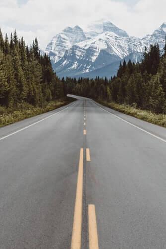 ストレートな道路