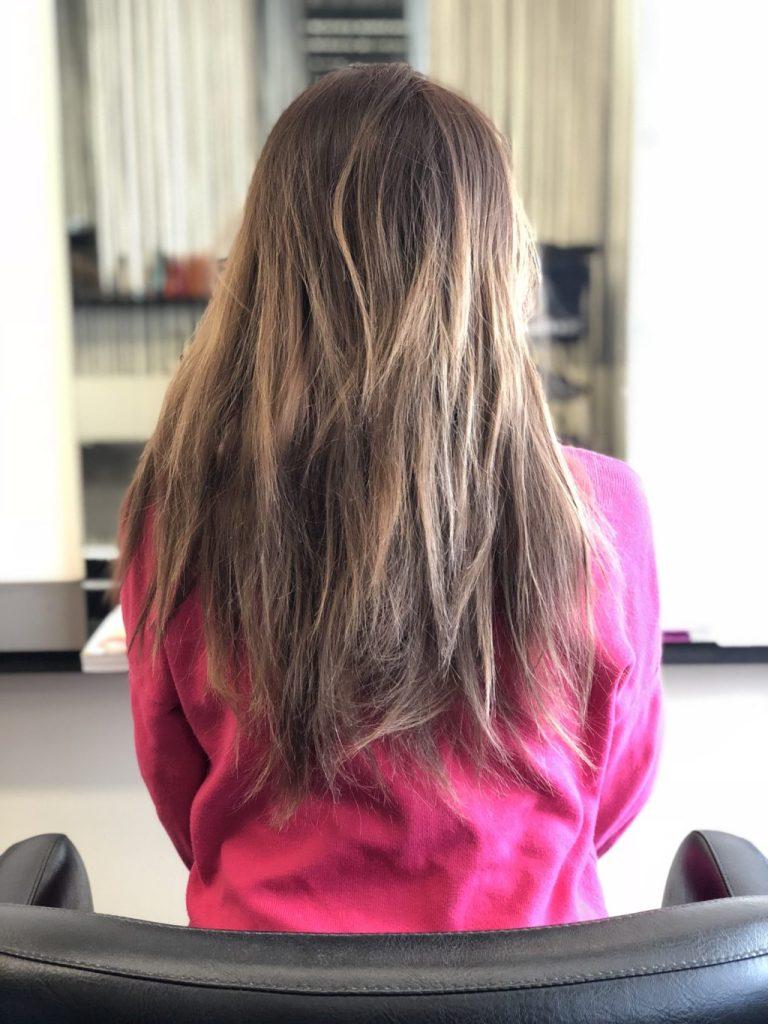 乾燥した髪の毛