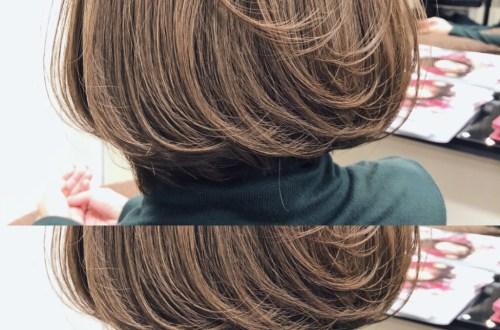 マットアッシュのヘアカラー