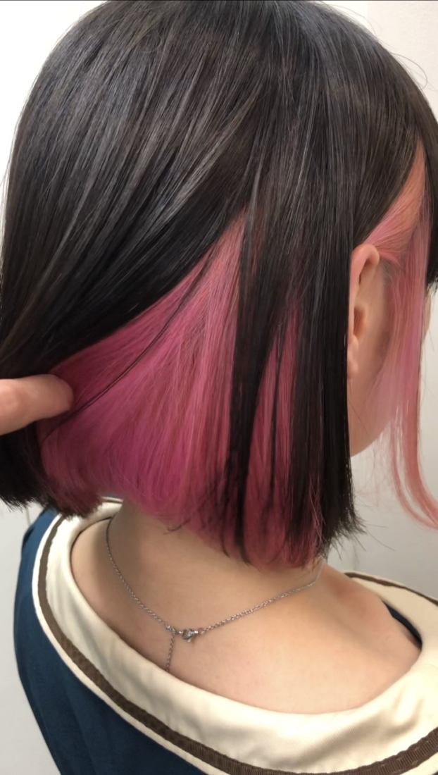 ピンクのインナーカラー