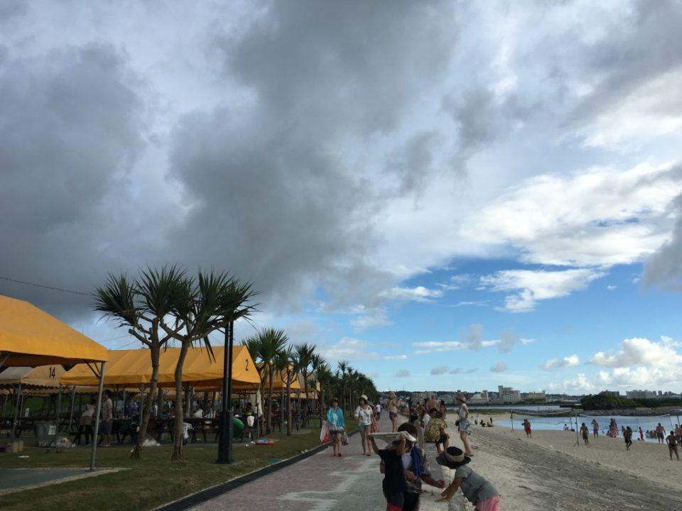 沖縄での大雨3分前の様子