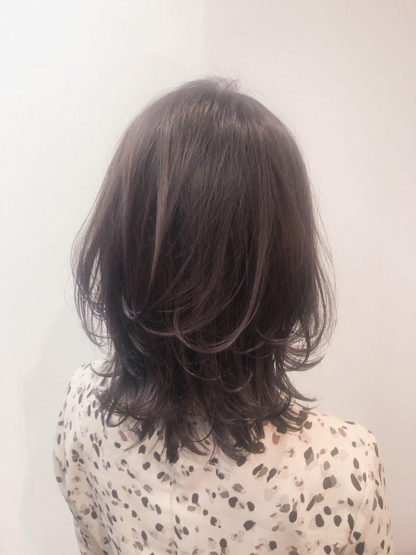 オイルグロス発色のヘアカラー