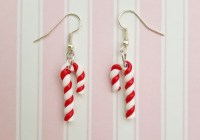 Candy Cane Drop Earrings - ShinyCreations