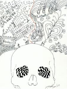 Doodle Head Two Braind