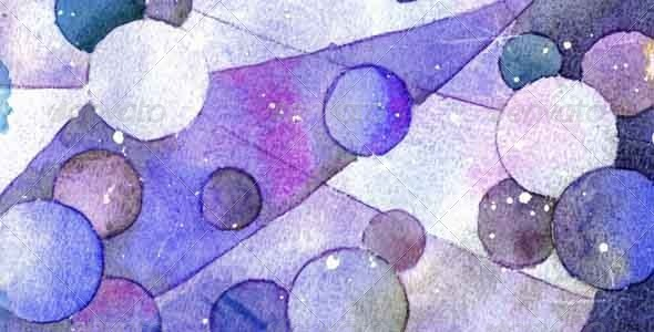 Watercolor Fractured Bubbles Preview