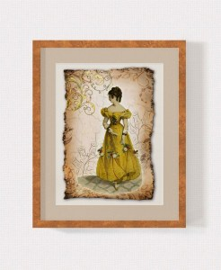 Regency Fashion Collage 5 x 7 Print 2 MU