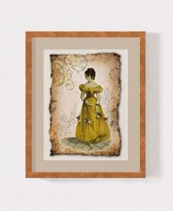 Regency Fashion Collage 5 x 7 Print 2 MU