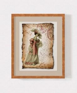 Regency Fashion Collage 5 x 7 Print 3 MU