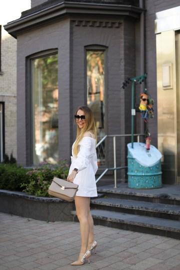 Revolve White Off Shoulder Dress