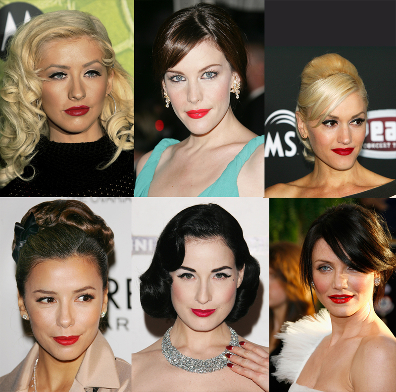 Stars with Signature Red Lips