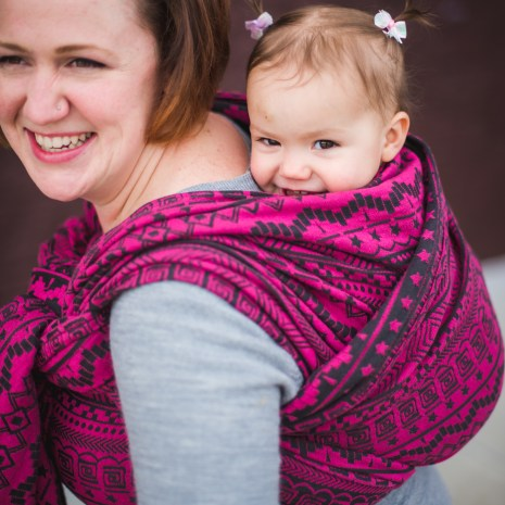 shiny_star_designs_space_invaders_ursa_woven_wrap_babywearing_budget_low_cost_green_geometric_jacquard_geeky_gamer_nerdy_back_carry_america_pink_black_4
