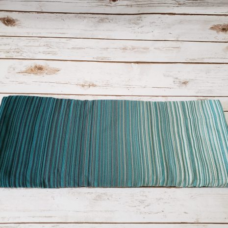 butterfly_baby_co_serenity_teal_monochrome_turquoise_budget_low_cost_woven_wrap_babywearing_newborn_wrap_conversion_ring_sling_shiny_star_designs_america_toddler_wearing