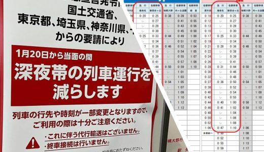 小田急線の緊急事態宣言に伴い新宿発、新百合ヶ丘着の終電が13~18分繰り上げに