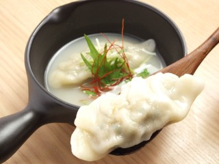 白湯スープ餃子