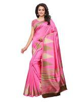 Kanchnar Women's Poly-Art Silk Printed Saree