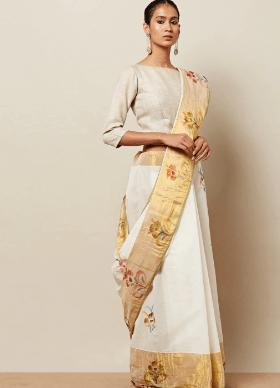Shop For Kerala Kasavu Cotton Saree