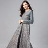 Buy AKS Women Grey & Golden Printed Maxi Dress