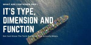What Are Container Ship ? – Its Type, Dimension And Function
