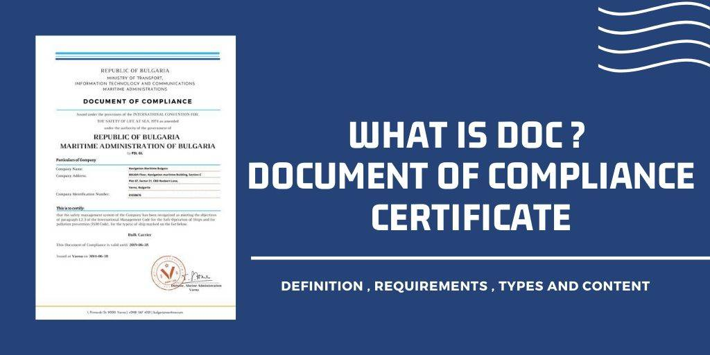 What is DOC Certificate? ( Document of Compliance )