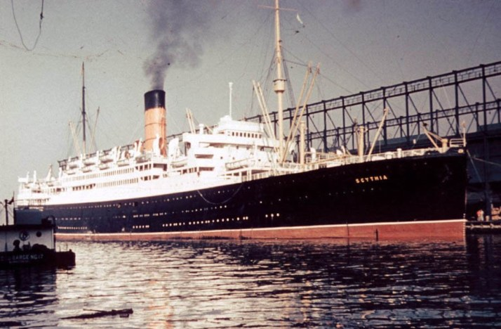 The ship on which Daisy returned - the Scythia (Picture: Cunard)