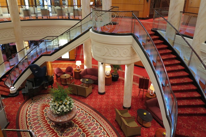 Grand entrance: The staircases in the main lobby