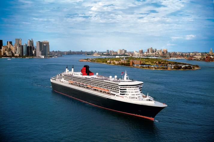 We're leaving today: QM2 sails from New York on a transatlantic voyage (Picture: Cunard)