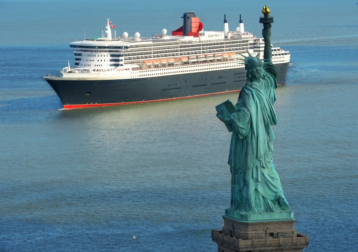 Sail of the decade: Queen Mary 2 in New York (Picture: Cunard)