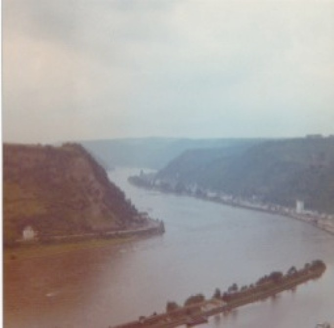 Our view from the Lorelei rock in 1977