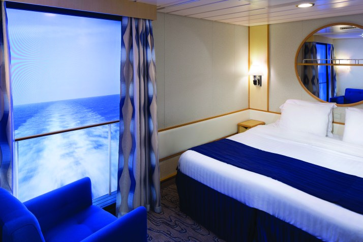 New wave: Even inside cabins have a sea view thanks to virtual balconies (Picture: Royal Caribbean)