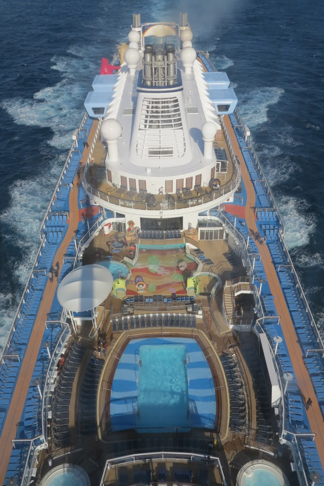 Sea below: The view of the Quantum of the Seas from the North Star