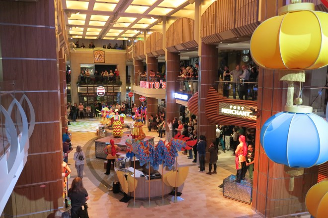 Best of the mall: The shops and restaurants centre of the ship