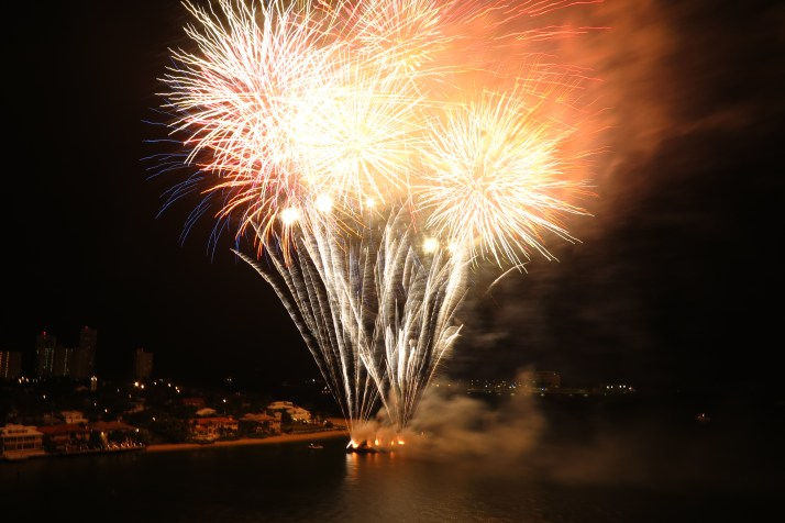 Lighting up the sky: The fireworks party ends the evening