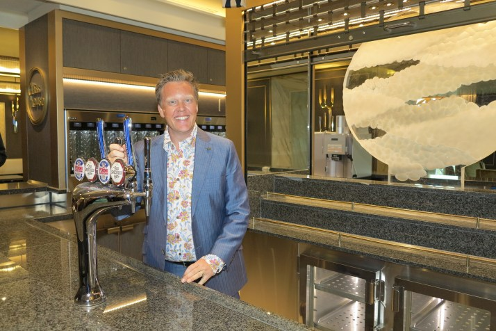 Olly here for the beer: Olly Smith will serve Harvey's ale in the Glass House